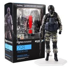 Metal Gear Solid 2 Action Figure Gurlukovich Solider Figma 298 MGS Soldier Gun Weapon Model Toys