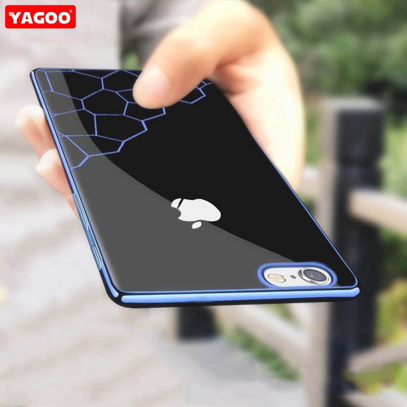 For iphone 6s plus case for iphone 6s case luxury silicone soft back cover blue red silver color glossy for iphone6s case yagoo