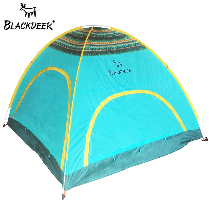 BLACKDEER Automatic Tents Outdoor Camping Tourist Automotic Waterproof Upgraded Ultralight 2-3 Person 4 Season Family Open Tent tourist season