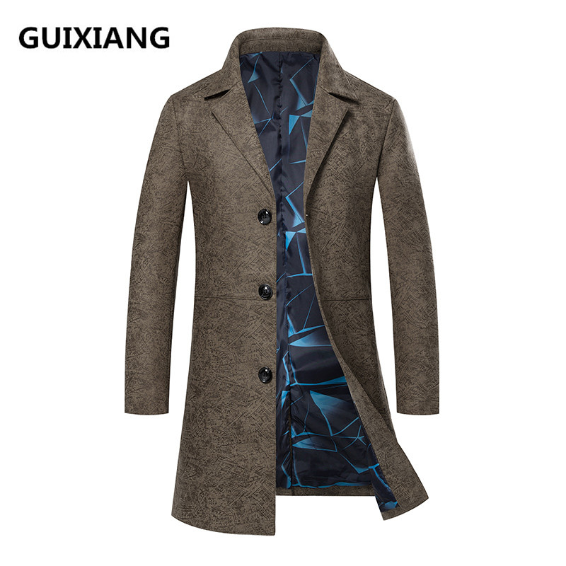 2018 Spring overcoat High quality Men Casual Male Classic   trench   coat Men's Fashion Slim Fit coats business windbreaker jackets