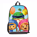 2015 New Fashion Cute Cartoon School Backpack For Boys Girls Team Umizoomi Design School Book Bags Thomas Mochila Kids Children