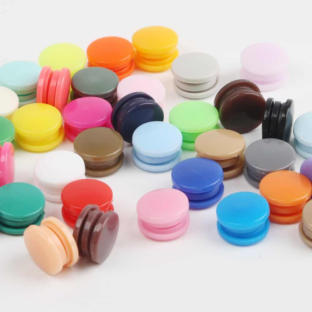 New 50 Sets KAM T5 12MM Round Plastic Snaps Button Fasteners Quilt Cover Sheet Button Garment Accessories For Baby Clothes Clips