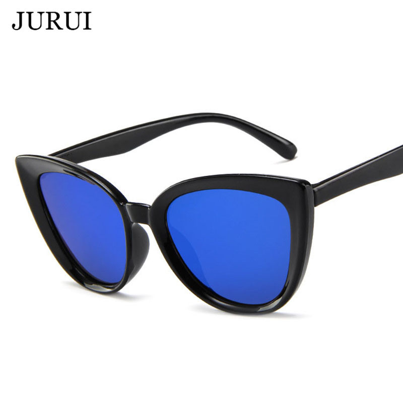 New Cat Eye Women Sunglasses Tinted Color Lens 2019 Vintage Shaped Sun Glasses Female Eyewear Blue Sunglasses Brand Designer in Men 39 s Eyewear Frames from Apparel Accessories