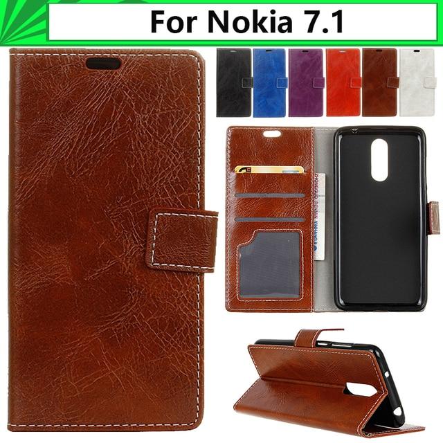 on sale 5274b 977d9 US $6.58 |EiiMoo Wallet Phone Case For Nokia 7.1 Case Luxury Horse Pattern  Leather Flip Back Coque For Nokia 7.1 2018 Case Cover Nokia7.1-in Flip ...