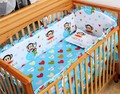Promotion! 6pcs Baby Bedding Sets cot bumper+fitted cover Baby Cot (bumpers+sheet+pillow cover)