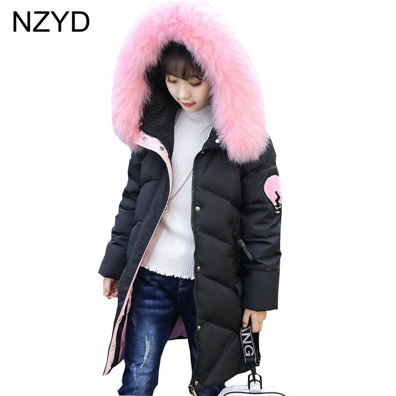 New Fashion Winter Cotton-Padded Clothes Girls Coat Han edition 2017 Thicken Elegant Down Coat Casual Warm Kids Clothes DC656
