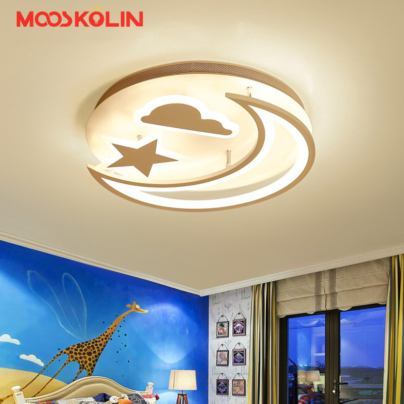 Satr/moon Modern led ceiling chandelier lights for bedroom Children kids room AC85-265V led chandelier lustre para sala fixtures