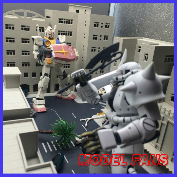 MODEL FANS IN-STOCK GUNDAM MODEL Ultraman Street Buildings scene set hg1/144 mg1/100 DIY assembly toy figure model fans in stock daban gundam model pg 1 60 unicorn gundam phoenix self assambled robot 350mm toys figure