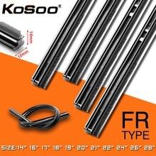 цена на KOSOO 1PCS Car Wiper Blade Insert Natural Rubber Strip 10mm 1416171819202122242628 Windscreen FR Wipe Car Accessories