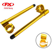 7 8 22mm FX CNC Universal Aluminum Motorcycles Adjustable Clip On Ons HandleBar Fork For Cafe