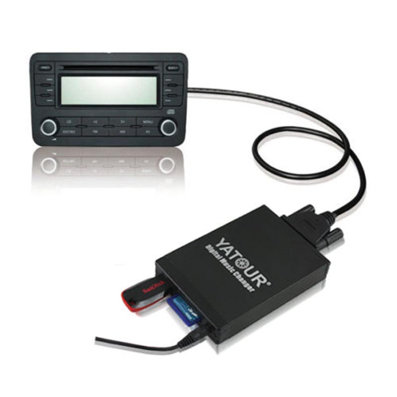 Car AUX USB SD 3.5MM Interface Audio Media Box Adapter For Toyota Camry RAV4 Lexus Scion 2003-2013 Small Plug