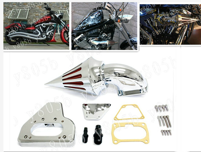 New Intake Spike Air Cleaner Kits For 2002-2009 Honda Vtx 1800 R S C N F Chrome