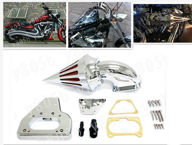 US $100 57 6% OFF|Chrome Motorcycle Spike Intake Air Cleaner Kits For Honda  VTX 1800 2002 2009 VTX1800 R/S/C/N/F 02 03 04 05 06 07 08 09 MT 234-in Air