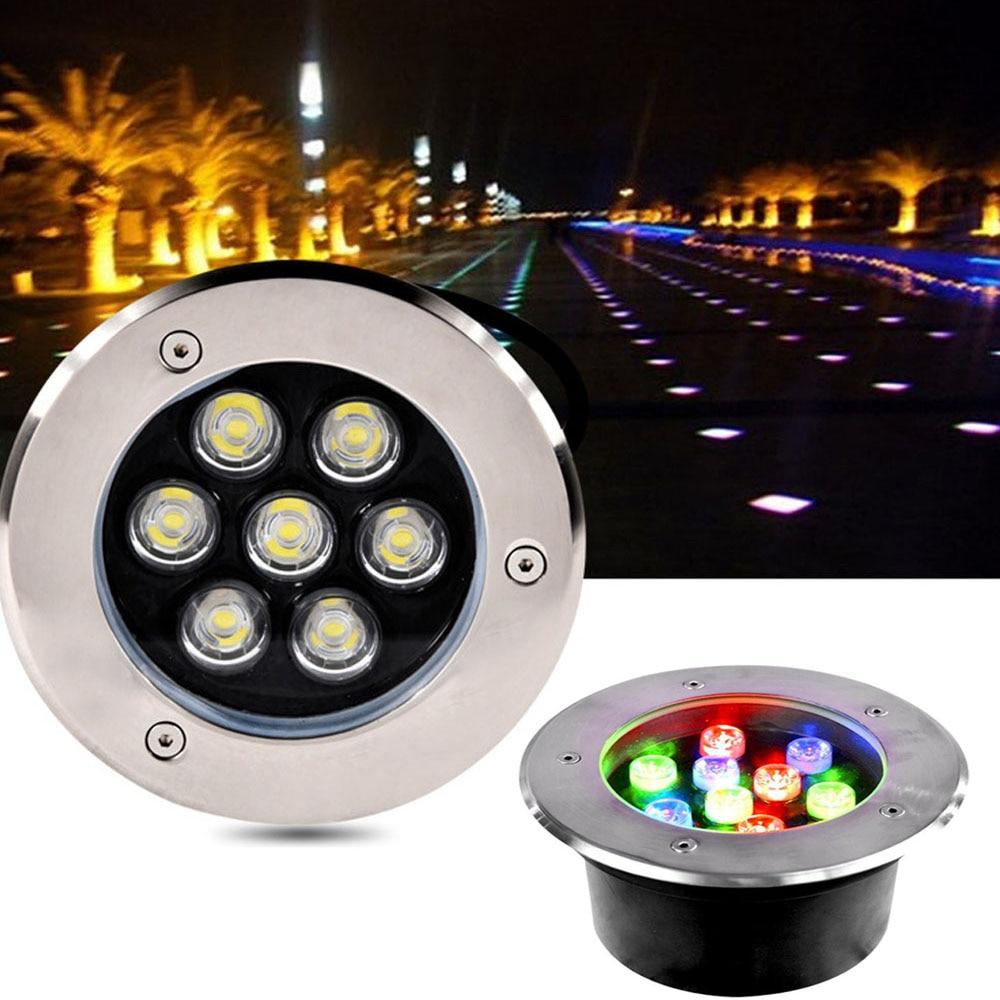 Dhl Free 10pcs/lot Ip67 Led Underground Light 1w3w5w7w9w12w15w18w Waterproof Lamp Garden Path Floor Lamp Landscape Light Led Lamps Led Underground Lamps