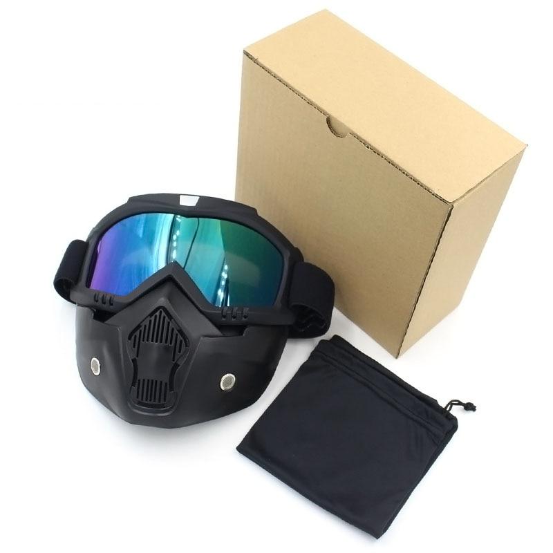 Prix pour La poussière Coupe-Vent Visage Masque Moto Lunettes Course de Descente Lunettes Ski Snowboard Lunettes Ski Cyclisme Motocross Lunettes
