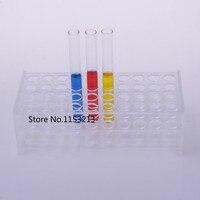 15.5mm*40 Holes rectangle transparent Plexiglass test tube holder organic glass test tube rack cocktail holder Suitable for 15mm
