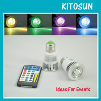 Retail 5W E27 RGB LED Bulb 16 Color Change Lamp Spotlight 110 245v For Home Party