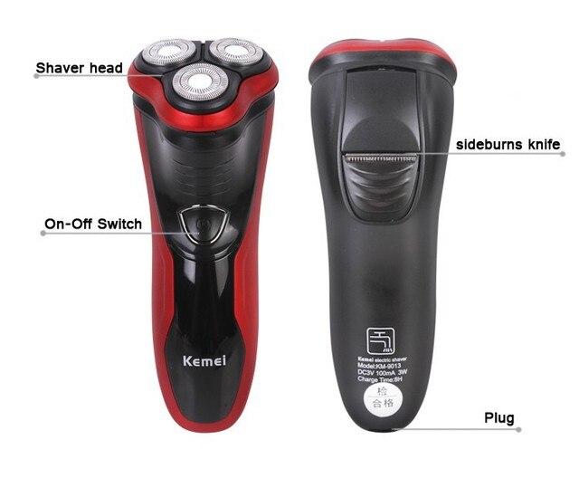 3d плавающей тело полностью стирать электробритвы для мужчин Бритья машина вращающийся аккумуляторная мужчины борода усы razor blade