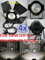 4xLot 2016 100W Led COB Par Light Fresnel Studio Light PAR64 Full Color High Power Stage Washer Surface Light with Barn Door