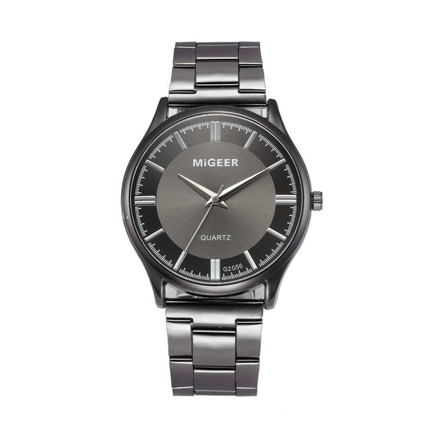 Fashion Watch Men Relogio Masculino Clock Crystal Stainless Steel Analog Quartz