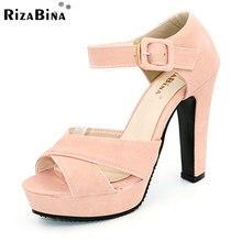 Zapato con Cierre de peep Toe Gruesas Sandalias de Tacón Alto Plataforma Zapatos de Las Señoras Vestido de Mujer de Marca Calzado Sandalia Mujer tamaño 32-43