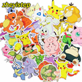 100 Pcs Pikachu Stickers Funny Cartoon Anime DIY Decals For Laptop Luggage Phone Car Styling Home Decor Toy Sticker Not Repeat