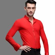 4f7d3df135 Nuevo baile latino chaqueta adulto ropa de abrigo baile ropa hombre baile  chaqueta de los hombres es baile de salón camisa de ma.
