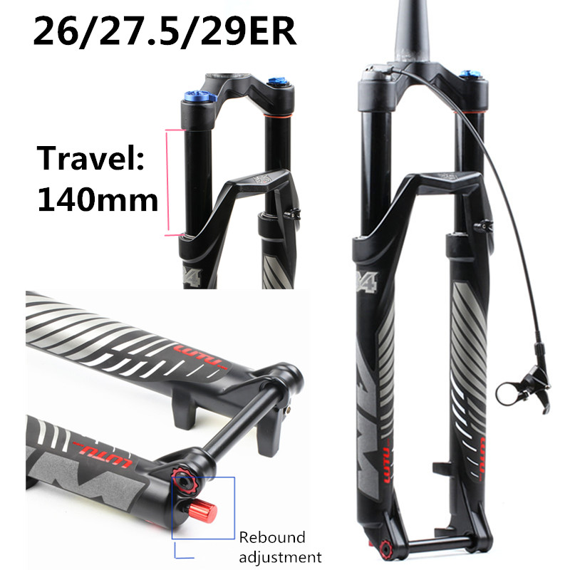 bicycle fork RL 120 26 27.5 29ER cone Inch Fork Suspension Lock Straight Tapered Thru Axle QR Quick Release  Rebound adjustmentbicycle fork RL 120 26 27.5 29ER cone Inch Fork Suspension Lock Straight Tapered Thru Axle QR Quick Release  Rebound adjustment