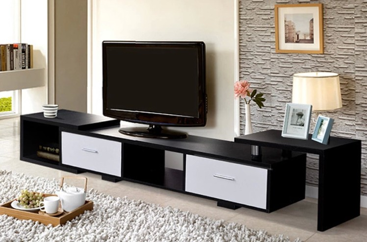 Telescopic tv cabinet modern minimalist nordic ikea living room furniture habitat combination - Modern cupboard for living room ...