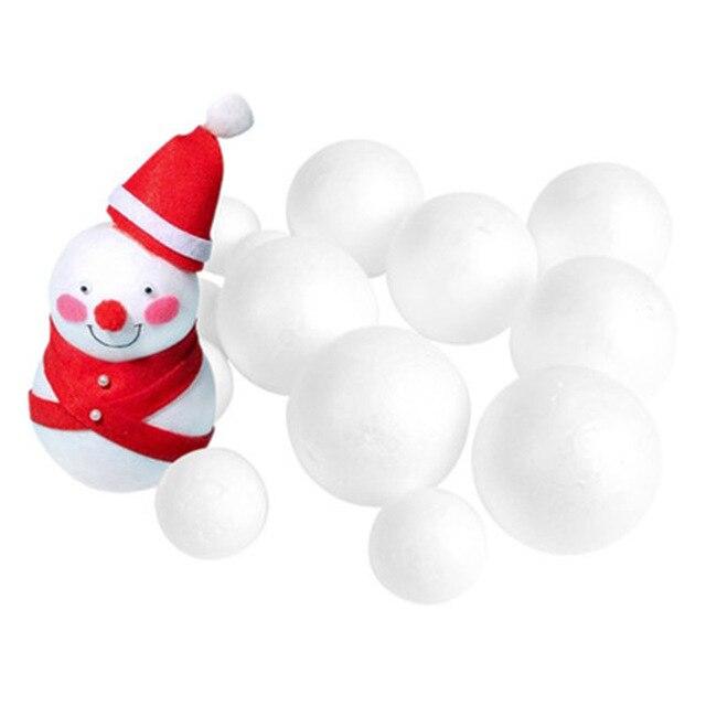 White Modelling Craft Polystyrene Foam Balls Styrofoam Ornaments DIY Kids  Craft Handmade Bouquet Christmas wedding decoration