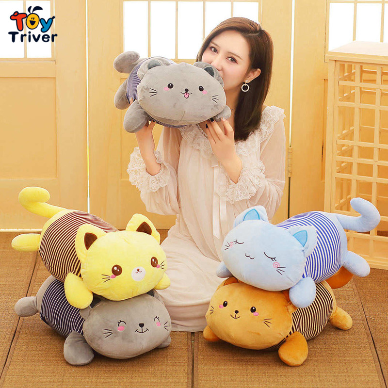 Kitty Cat Plush Cats Portable Toy Doll Baby Kids Shower Car Air Conditioning Travel Blanket Office Nap Carpet Birthday Gift in Stuffed Plush Animals from Toys Hobbies