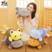 Kitty Cat Plush Cats Portable Toy Doll Baby Kids Shower Car Air Conditioning Travel Blanket Office Nap Carpet Birthday Gift все цены