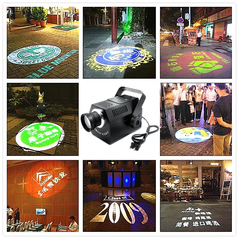 Logo Projector 30W 50W mini Light Custom Made Logo Lens Retail Shop Indicate Sign Instruct Notice