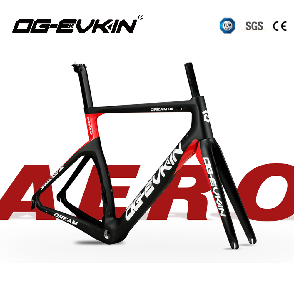 OG-EVKIN CF-024 Carbon Road Frame Di2&Mechanical Carbon Frame Bicycle Road Bike Frame Racing Bike Frame Fork+Seatpost+Headset(China)