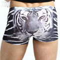 Men's Cotton Tiger Stipe Smoothly fabric Brand Sexy Boxer Underpant Erotic Cute Underwear for Man Shorts Plus Size 3XL P221514