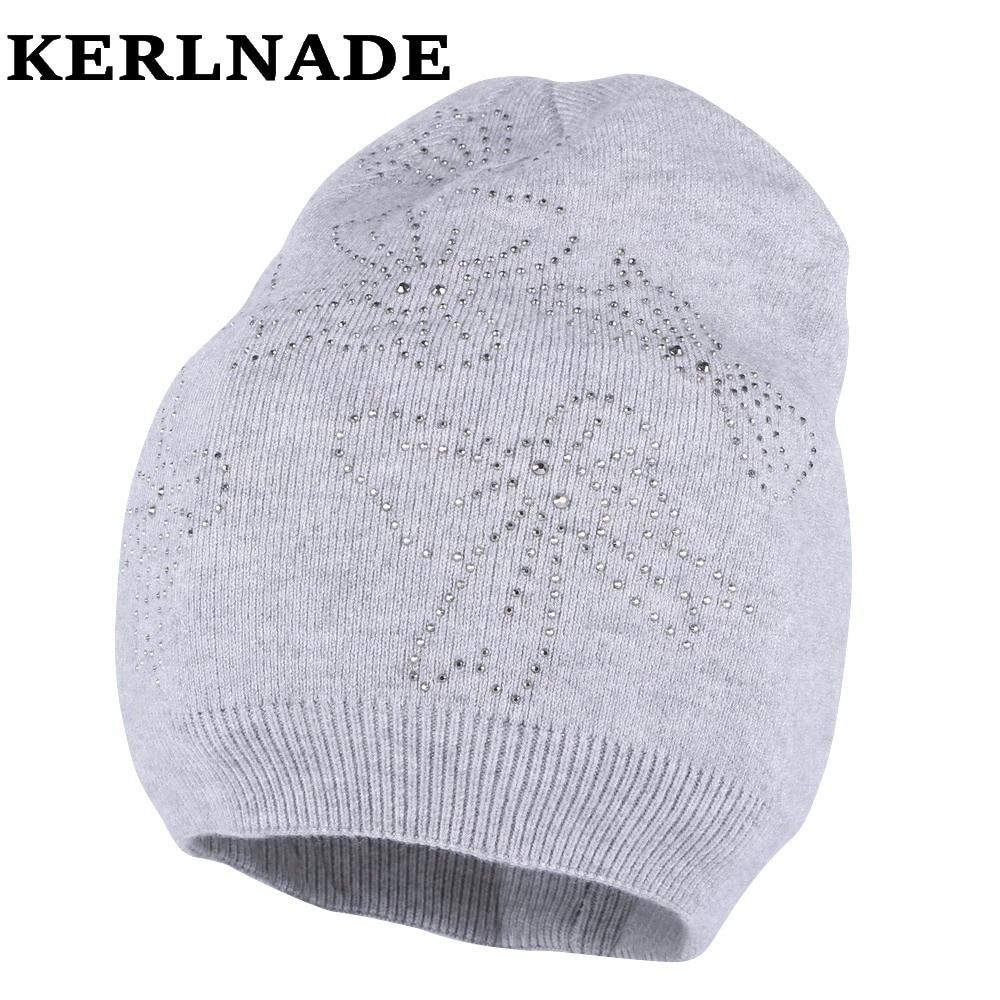 women wool winter hat brand skullies beanies Custom designer luxury rhinestone style warmer casual winter hats girl beauty gorro skullies