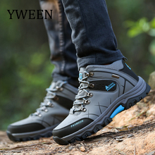 YWEEN Men Boots Winter With Fur 2018 Warm Snow Boots Men Winter Boots Work Shoes Men Footwear Fashion Rubber Ankle Shoes