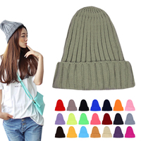 Color Warm Wool Hat Couples Cap Pointed Hats Beanies