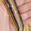 """12pcs/lot Fashion 1.5mm 2.4mm Iron Necklace Bead Chain for necklace DIY Jewelry Making Accessories 70cm 27 1/2"""" K01158"""