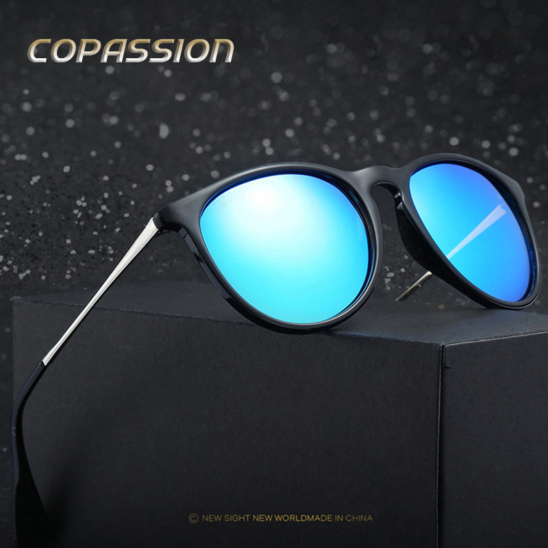 2017 New Style polarized Cat Eye sunglasses women men Brand Designer Vintage Round sungl ...