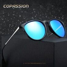 2017 Novo Estilo polarized Olho de Gato óculos de sol das mulheres dos homens Designer de Marca Do Vintage Rodada óculos de sol uv400 óculos de sol oculos de sol feminino