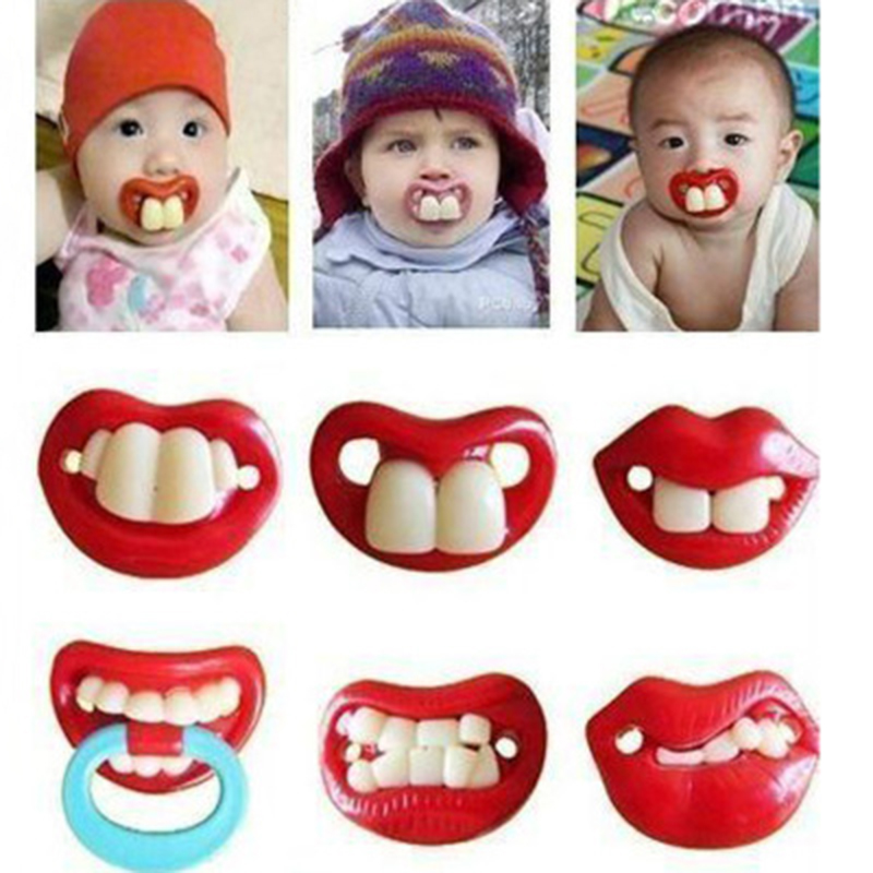 Baby Pacifier Funny Dummy Nipple Teether Soother Toddler Pacy Orthodontic Teat