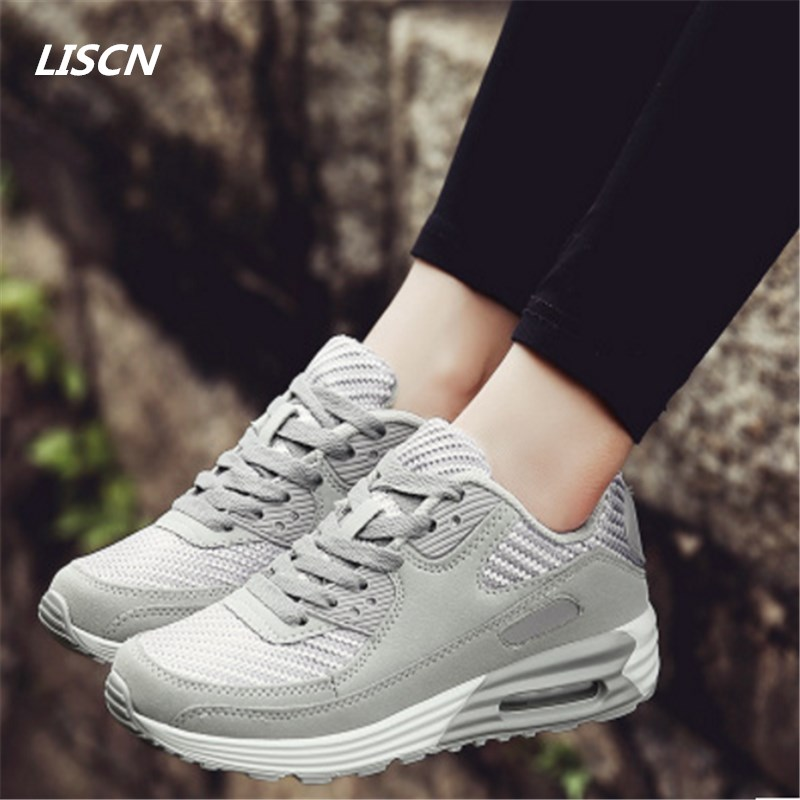 2018 Spring Women Sneakers Breathable Air Mesh Women Casual Shoes Fashion Lace Up Flat Outdoor Shoes Ladies tenis feminino