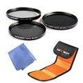 Conjunto de Filtros de Densidad neutra ND ND2 ND4 ND8 kit + Bolsa para Nikon D7100 D7000 D5200 D5000 D5100 D3200 D3300 D3100 D3000 DSLR Cámaras