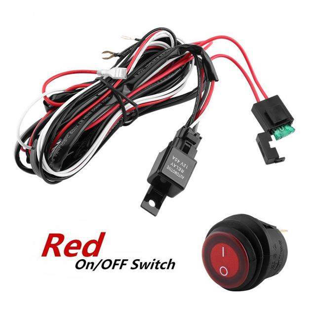 12V Wiring Relay Switch Red LED Light Bar ON/Off Rocker Switch ... on led lights signal flashers, led light switch cover, led third brake light bar, led light wiring diagram,