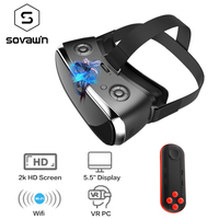 Sovawin 2K HD Wifi All In One VR Hdmi Headset 3D Smart Glasses Virtual Reality Immersive