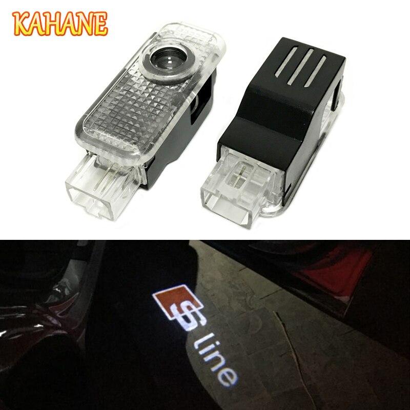 Кахане 2 шт. водить автомобиль дверь лазерный проектор света для Audi Sline A3 <font><b>A4</b></font> A5 A6 A8 S3 S4 S5 S6 s7 S8 b5 b6 b7 <font><b>B8</b></font> c5 c6 RS3 RS4 RS5 RS6