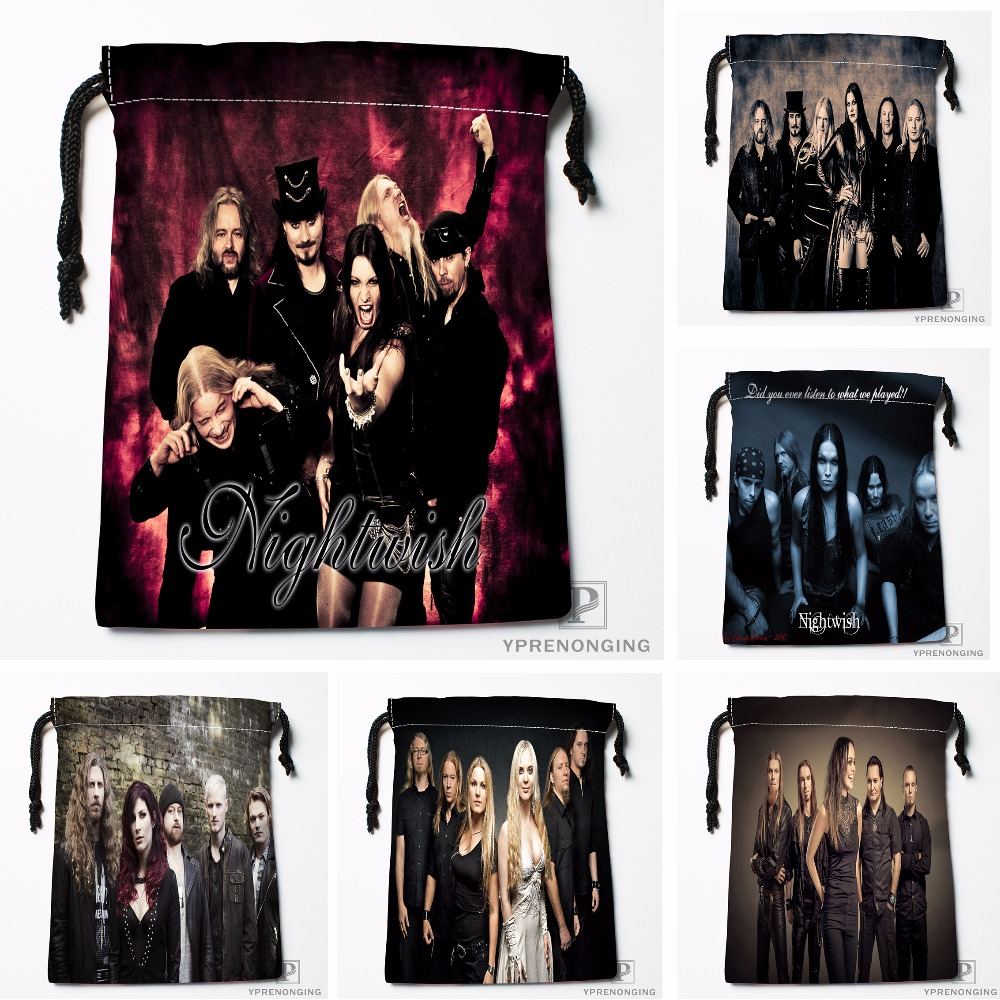 Custom Nightwish Band Drawstring Bags Printing Travel Storage Mini Pouch Swim Hiking Toy Bag Size 18x22cm#180412-11-87