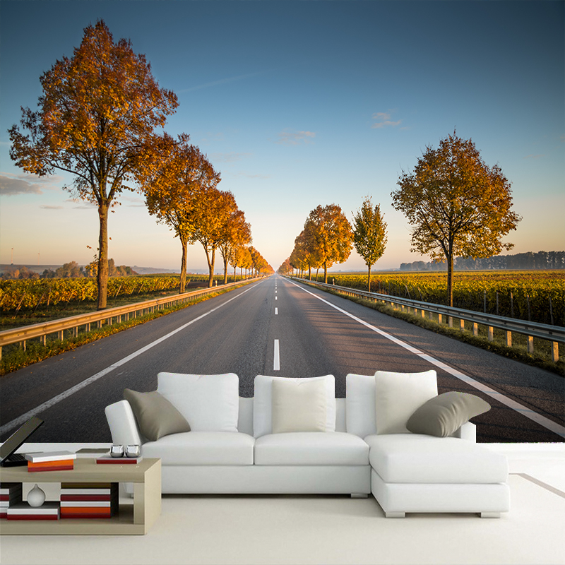 Custom HD Photo Wall Paper 3D Stereo Highway landscape Wallpaper Art Backdrop For Walls 3D Papel Wall Papers Papel De Parede 3d custom 3d photo wallpaper waterfall landscape mural wall painting papel de parede living room desktop wallpaper walls 3d modern
