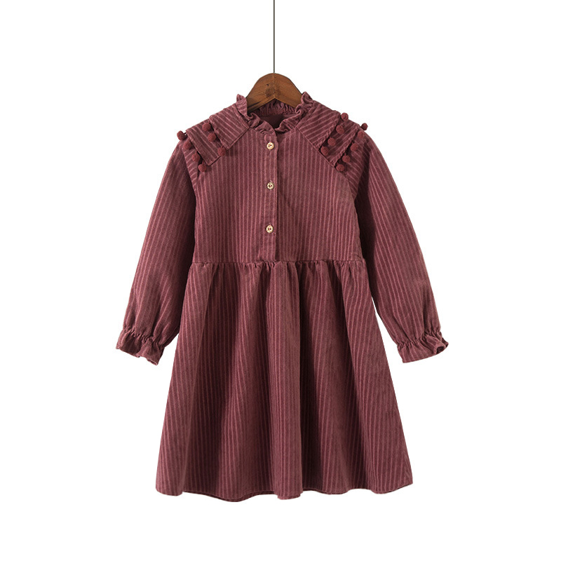 winter long-sleeve elegant tassel dress age for 3 -12 yrs princess kids dresses for girls school style autumn cute party dress 5 16 y girls dress for autumn 2018 kids print mesh black red o neck party dresses girls cute princess dress long sleeve m510a